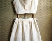 Organic Cotton Button waist Pin-tucked Camisole and Petticoat/ underdress-made to measure