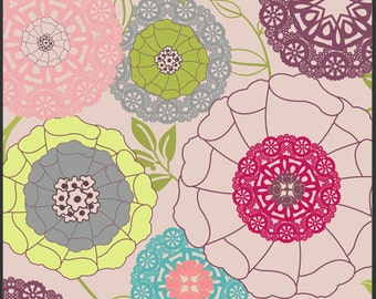 Modernology Avant Garden Blush Fabric by Pat Bravo for Art Gallery Fabrics - 1 Yard