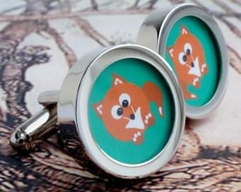 Foxy Fox Cuff Links PC078
