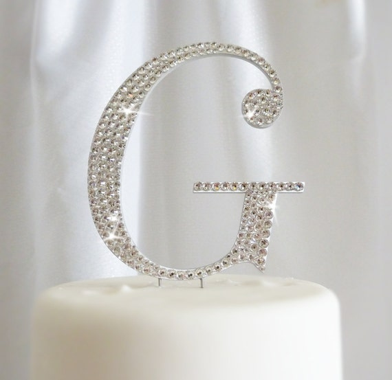 Items Similar To Monogram Wedding Cake Toppers