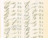 DIGITAL DOWNLOAD - 1895 School Primer Penmanship Page - Typography / Alphabet - for Papercrafts, Transfers, Pillows, Scrapbooks, and more.