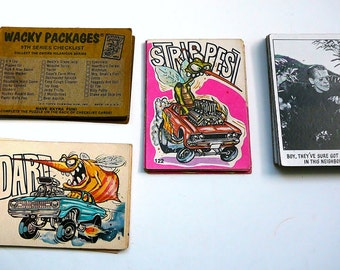1970s Creature Feature, Wacky Packages Topps Trading Cards