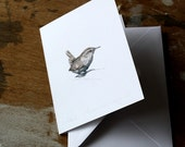 Notecard - Wren - Pencil Drawing