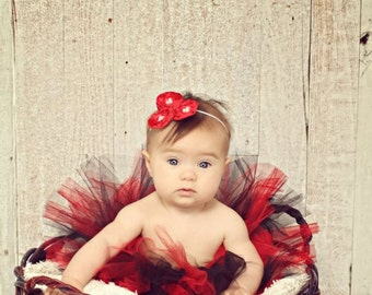 Red and Black Tutu - Valentine Tutu - Ladybug Tutu - Halloween Tutu