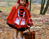 Little Red Riding Hood tutu Costume-Halloween-Birthday-Photo shoot