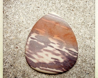 Extral Large Tear Drop African Sunset Cabochon