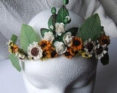 OOAK Summer Solstice Flower Crown ( Tiara )