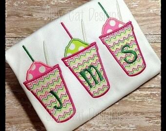Snowball Trio Applique Machine Embroidery Design