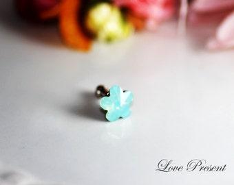 iPhone Dust Plug Headphone Plug Charm - Sparkly decoration in Swarovski Crystal Daisy style  - Choose your color
