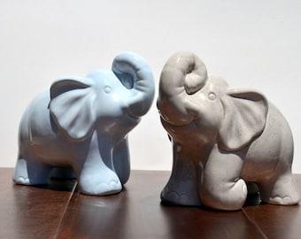 Ceramic Elephant Coin Bank Piggy Bank Nursery Decor , Pick Your Color
