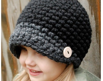 Crochet PATTERN-The Easton Cap (Toddler, Child, and Adult sizes)