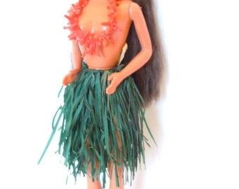Hawaiian Hula Barbie Coral OOAK