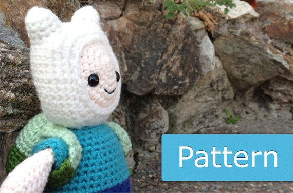 Adventure Time Jake Amigurumi Pattern : Adventure Time Finn: PDF Amigurumi Crochet by GeekChicurumi