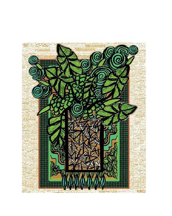 Arte - piante tropicale