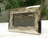 Free Shipping Pressed Flowers in a Mini Frame 1.5x3 Small Gift for Gardener