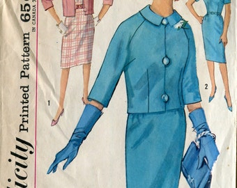 Simplicity 4768 Vintage Dress Jacket Sewing Pattern B32