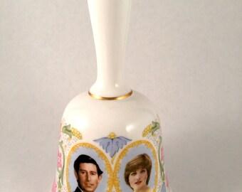 Coalport Princess Diana & Prince Charles Royal Wedding Bell - made in england - wedding bells - fine bone china