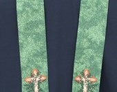 Clergy stole,Chaplain, visitation, Tree of Life Cross , MADE to ORDER