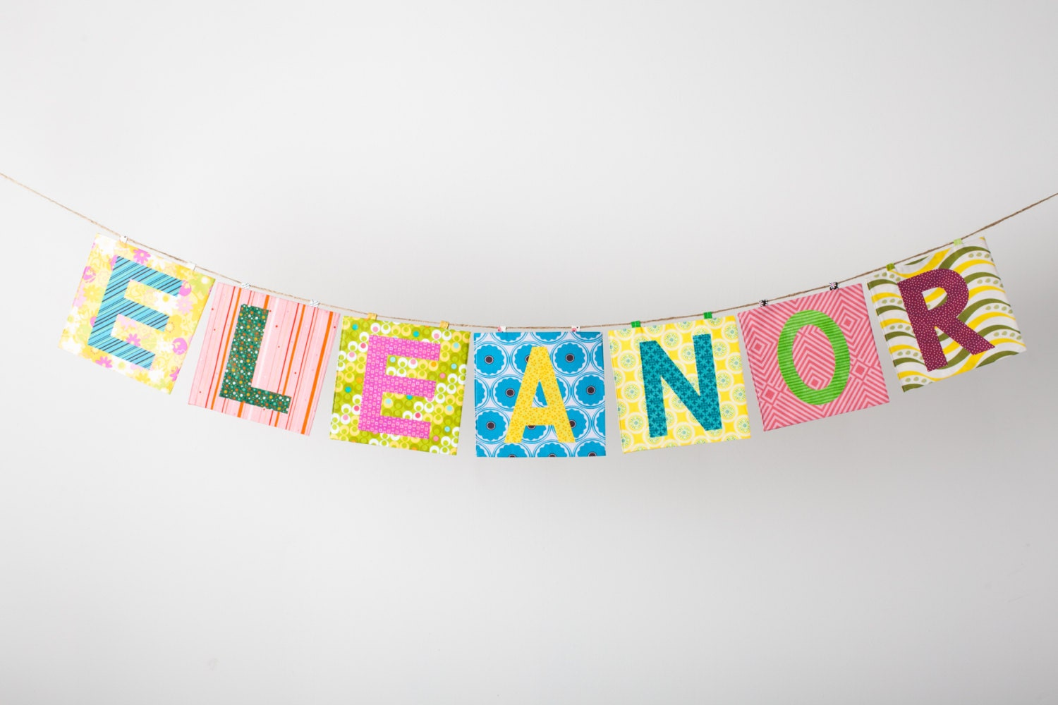 Custom Fabric Banner ~ Fabric Name Banner ~ Photo prop ~ Kid's room decor in the ELEANOR Collection