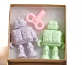 Robots in Love Gift set - 2 Robot soaps in a gift box