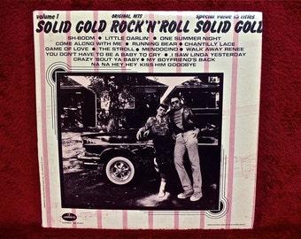 SOLID GOLD Rock n Roll Vol. 1 -  Original Hits - Vintage Vinyl Record Album