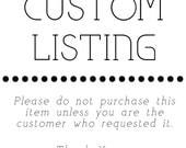 Custom Lising for Brooke