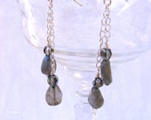 Labradorite Drop Double Chain Dangles