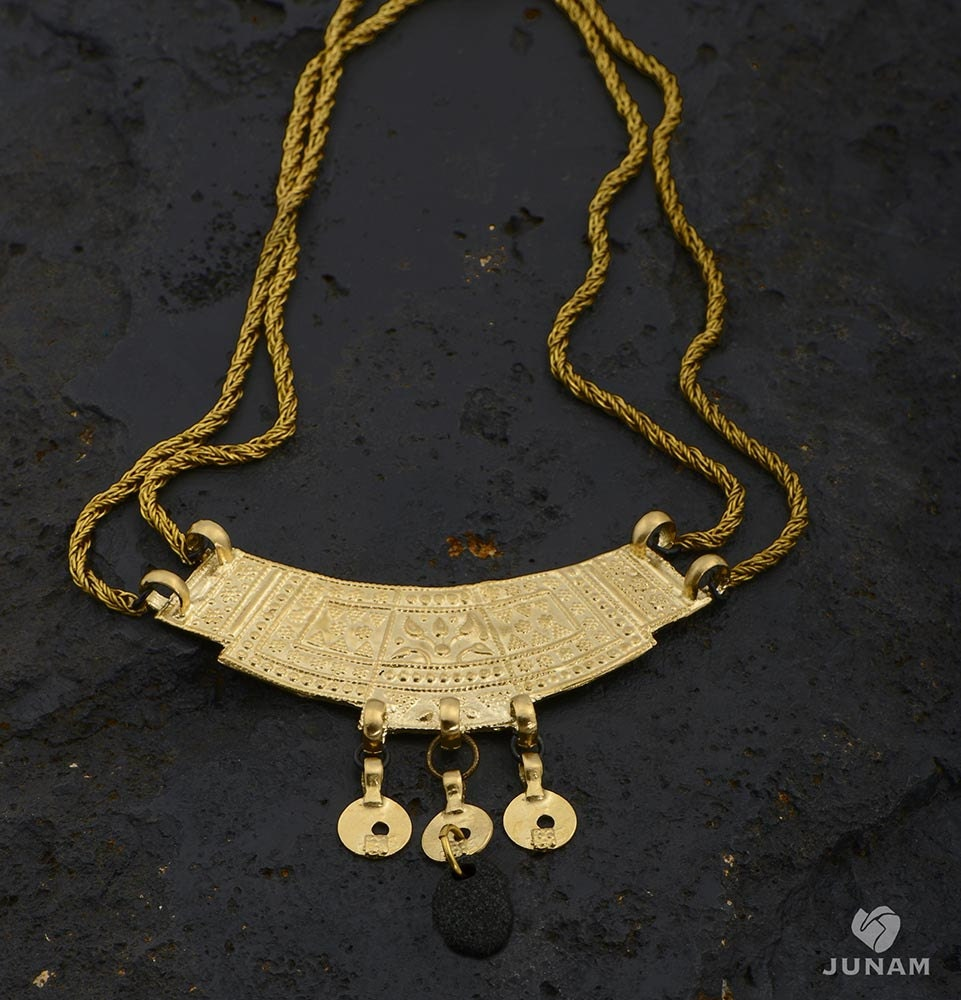 Egyptian Queen Necklace18k gold plated-double chain flat  Egyptian Queen ...