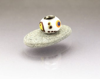 Large hole bead lampwork glass charm Miro BHB Anne Londez  SRA