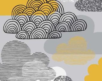 I Love Clouds, limited edition giclee print