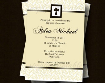RESERVED - Boy or Girl Baptism/Christening Invitation Printable