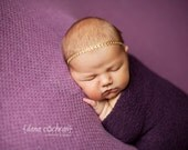Baby Headband- Newborn Headband- Golden Glamour Elastic Headband