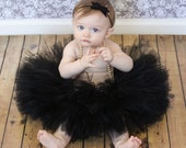 Black Sewn Tutu Birthday Tutu Toddler Tutu Baby Tutu Photo Prop Tutu Black tutu Halloween Tutu Ballet Tutu