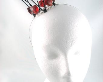 Queen of Hearts Mini Crown - Wire Crown Queen of Hearts Crown Headband Halloween Costume Queen of Hearts Costume Wonderland Crown