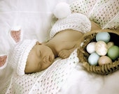 Bunny Baby Costume - Photo Prop - Newborn to 6 months - Easter - Halloween - Baby Costume - Photo Prop
