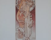 Vintage Poster Art, Mucha Poster, Antique Poster, Theater Play The Samaritan, Printed in USA in 1975