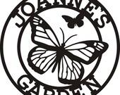 Butterfly - Personalized Garden Sign - Metal Wall Art