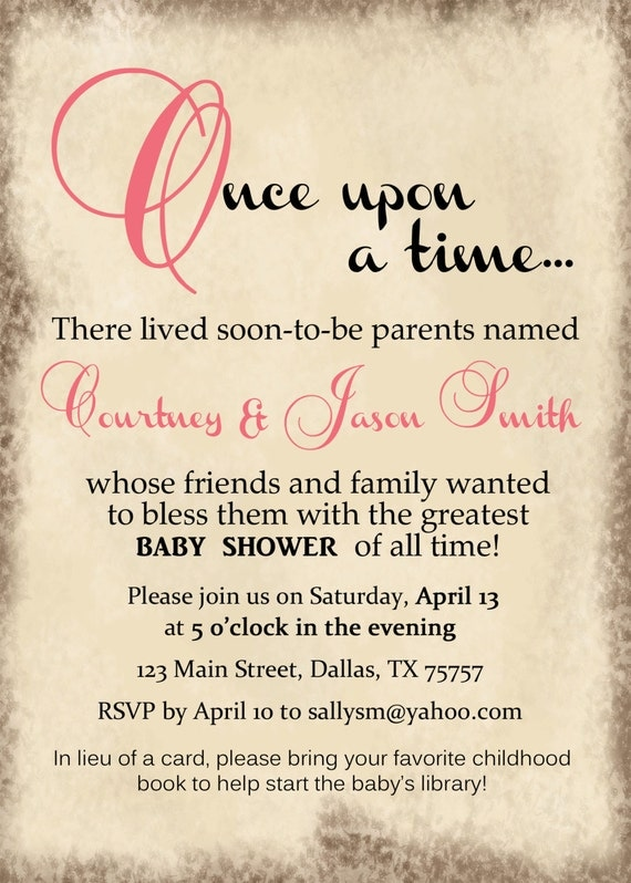 Storybook Baby Shower Invites was adorable invitation sample