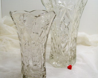 Vintage EAPC  Star of David Large Glass Vase Wedding Vase 2 Available