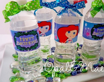 Little Mermaid Digital Party PRINTABLE DIY Birthday Drink Labels