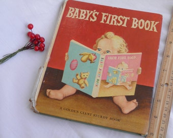 1968 Baby's First Book Child Book - Charming Illustrations