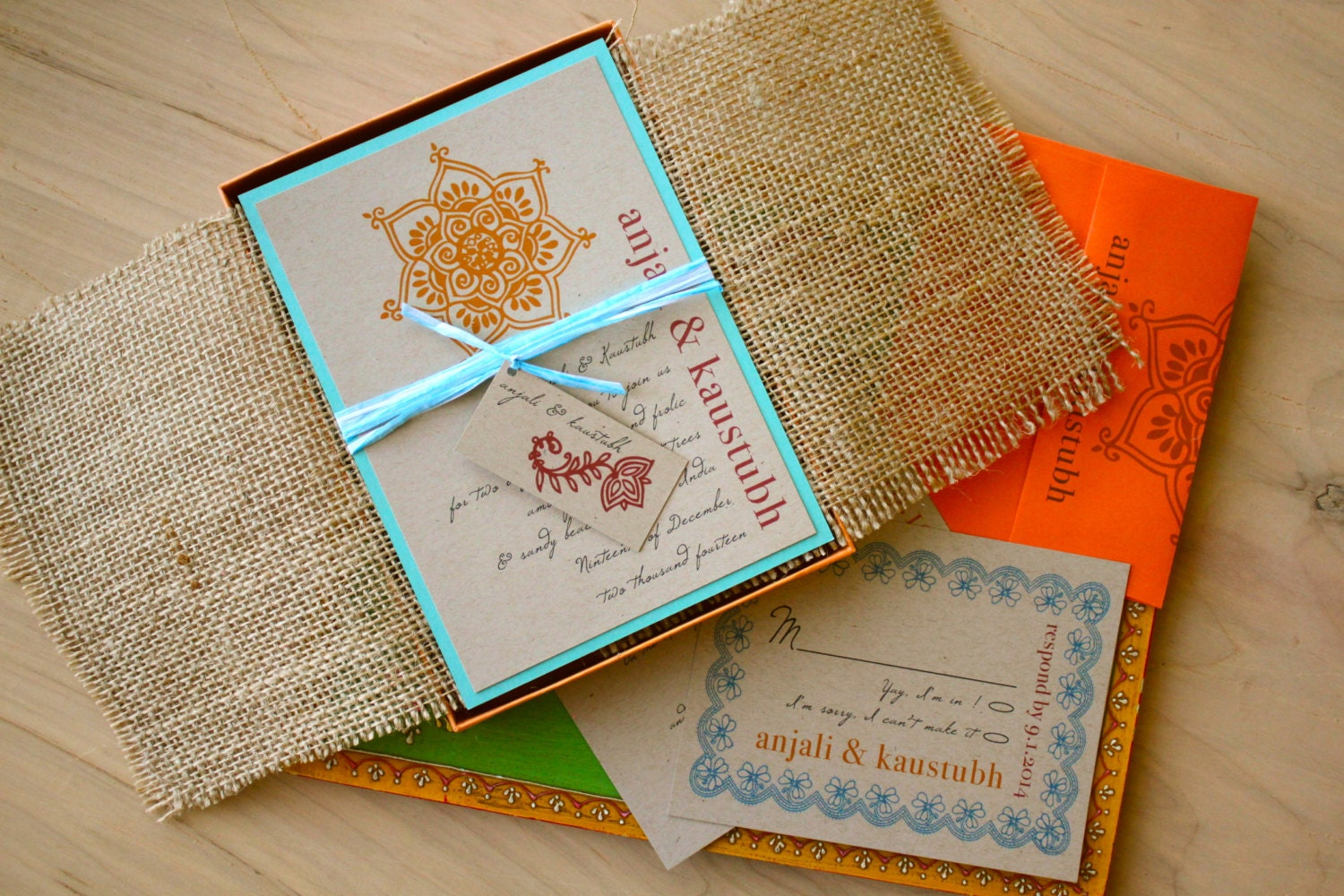 Wedding Invitations With Burlap: Wedding Invitations Boxed Burlap Wedding Invitations