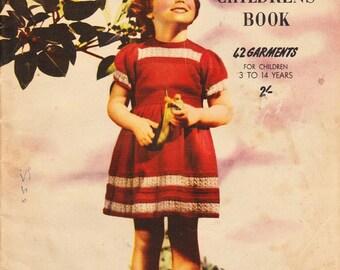 1950s Knitcraft Childrens Book knitting pattern book