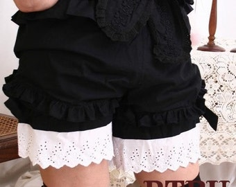Gothic Lolita Drawers Chemise Bloomer Shorts LARP BW