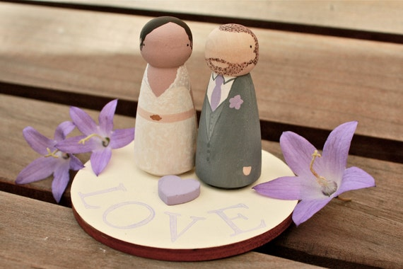 Base or Stand for your Custom Wooden Bride and Groom Wedding Couple Cake Topper