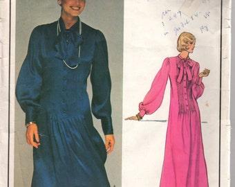 UNCUT 1960's Misses' Dress Vogue Paris Original Yves Saint Laurent 1195 Size 8 Bust 31 1/2