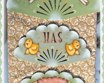 E PATTERN - Spring Has Sprung - Bunny, Chicks & Sheep ALL included - Designed and Painted by Sharon Bond - FAAP