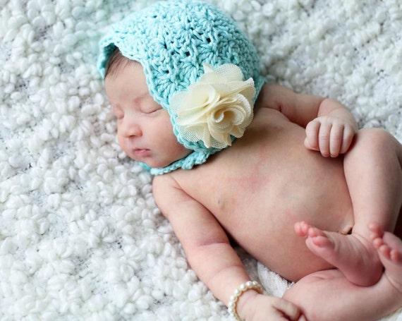 Crochet Shell Baby Bonnet Pattern : Crochet Pattern for Lacy Shells Baby Bonnet by ...