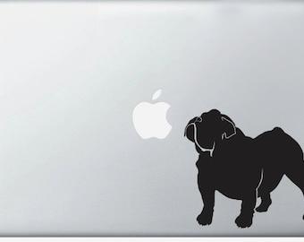 Bulldog DECAL laptop DECAL- macbook iPad computer- French dog, puppy - vinyl sticker