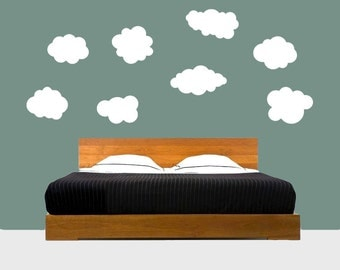 Clouds Wall DECAL- Set of 8-  interior design, kids rooms, sticker art, room, home and nursery decor
